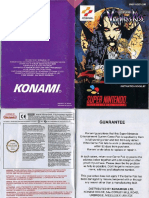 Castlevania Vampires Kiss Manual SNES