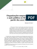 Org Empresariais e Acao Politica Brasil