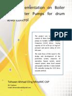 Boiler Feed Pump Saving