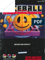 Faceball 2000 Manual SNES