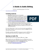 Super-Fast Guide to Audio Editing using Audacity