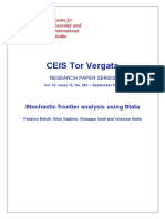 Stochastic Frontier Analysis Stata