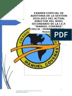 Auditoria de La Iep Manuel Coveñas