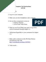 Computer Lab Instructions 4-23