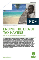 Ending the Era of Tax Havens: Why the UK government must lead the way