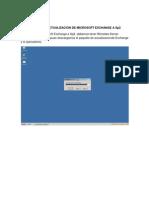 Manual de Actualizacion de Microsoft Exchange a Sp2
