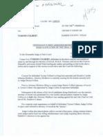 Defense Motion to Recuse Judge Denise Collins