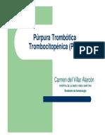 purpura trombotica trombocitopenica