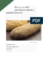 Receitas de Pão de Soja Sem Glúten