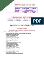 Leccionario Del Ciclo i A