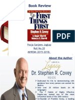 First Things First PPT 2015