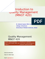 0. Quality Management Introduction