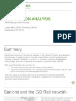 Metrolinx New Station Analysis Report