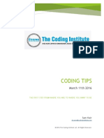 Coding Tips March 11th 2016