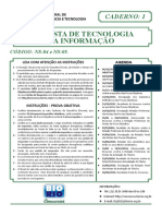 Analista Tecnologiasdfa Informacao Caderno 1