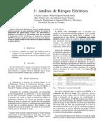 Informe sobre análisis de riesgos eléctricos