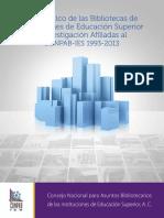 Diagnóstico de las Bibliotecas de Instituciones de Educación Superior e Investigación Afiliadas al CONPAB-IES, 1993-2013