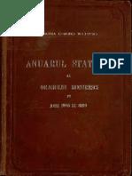 Anuarul Statistic Bucuresti 1898 1899