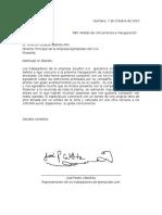 Carta Formal Ejemplo