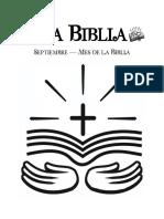 Actividad Mes de La Biblia