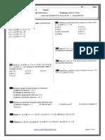 Lista de Exercício Avulsa 1 - Conjuntos