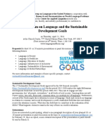 A Symposium on Language and the Sustainable Development Goals Full Pamphlet