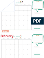 Blog Calendar 2014