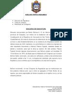 Análisis Crítico Resumido Catedra II
