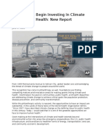 foundations begin investing in climate change and health health affairs 06172015