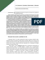 Adriana Stadnik Praticas I Congresso Internacional - Práticas Pedagógicas de Professores Formadores Relacionadas à Educação Física Escolar