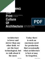 Print Culture of Architecture