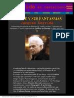 Derrida, Jacques - El Cine y Sus Fantasmas