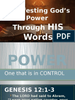 Manifesting God's Power Through HIS Words by Ptra Salome 03062016
