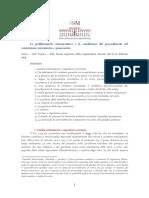 Le Problematiche Interpretative e La Conduzione Dei Procedimenti Nel Contenzioso Nunciatorio e Possessorio