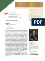 FloriLettres, revue la fondation la Poste (france), n° 160