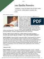 Entrevista Com Emília Ferreiro