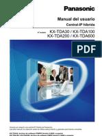 Manual Del Usuario Panasonic KX-TDA30/100/200/600