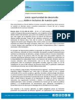 Bioeconomia Oportunidad de Desarrollo Sustentable e Inclusivo de Nuestro Pais