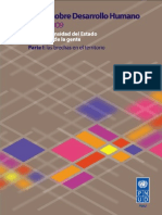 """Informe sobre Desarrollo Humano 2009 """"Por una densidad del Estado al servicio de la gente"""""""