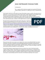 Roundup of Honeymoon And Romantic Getaways Guide