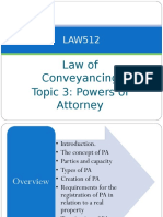 Topic 7 - Power of Attorney