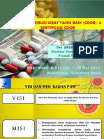 Cara Distribusi Obat Yang Baik Dan Sertifikas CDOB
