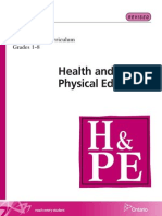 Full proposed 2010 Ontario Physical education and health curriculum (includes sex ed)