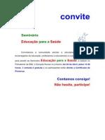 CONVITE_Seminário_EDucação_saude