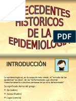 Contexto Historico de La Epidemiologia