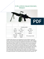 FN MINIMI 5 56 x 45mm Squad Automatic Weapon