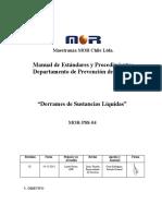 MOR-PSS-04 - Derrames de Sustancias Líquidas - Rev.01