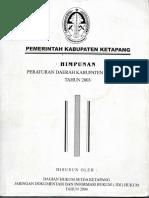 Himpunan Perda Ketapang Tahun 20032
