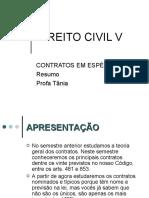 AULA DE DIREITO CIVIL - CONTRATOS EM ESPÉCIE - RESUMO