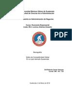 Monografía - INDICE DE COMPETITIVIDAD GLOBAL